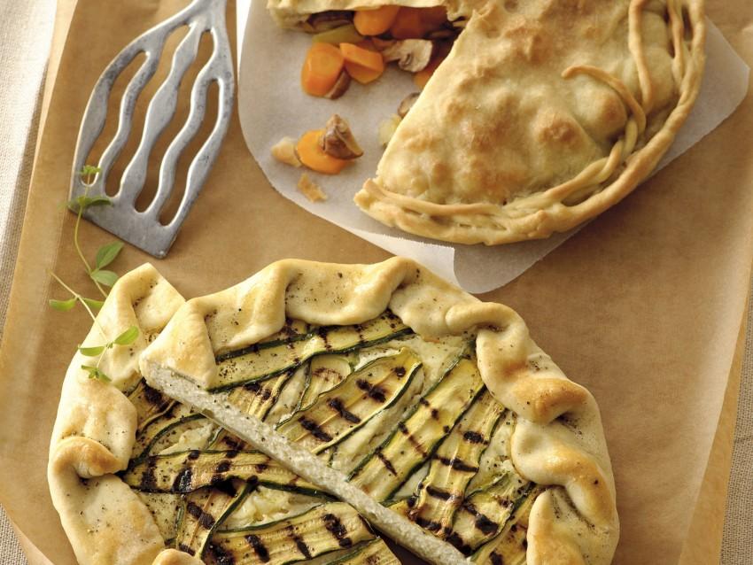 Torta salata aperta con ricotta e zucchine Sale&Pepe preparazione