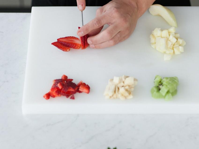 Tortina di crema pasticciera e frutta Sale&Pepe preparazione