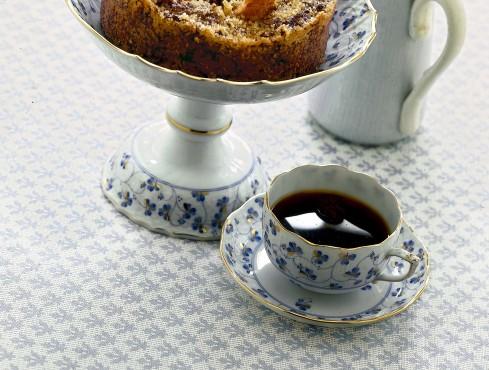 Tortino di pane e cioccolato con pere e cannella Sale&Pepe