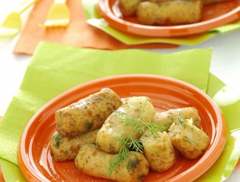 Tronchetti di patate, salmone affumicato e semi di papavero Sale&Pepe