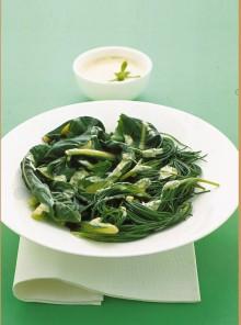 Verdure cotte con maionese alle erbe