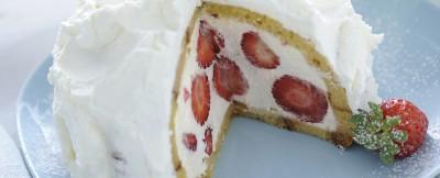 Zuccotto panna e fragole ricetta