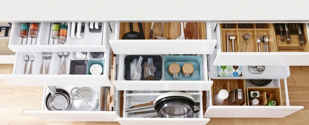 IKEA, sistema Metod dettaglio cassetti