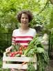 Donna nell'orto