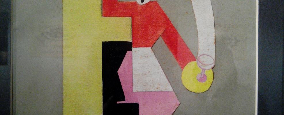 Alf Gaudenzi, Il cameriere - Bozzetto pubblicitario, 1933 - tecnica mista su carta