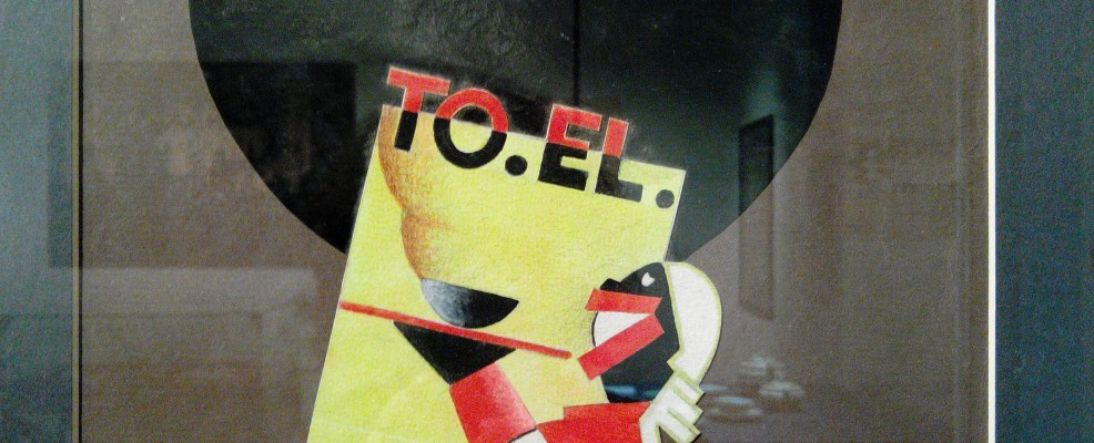 Alf Gaudenzi, TO.EL., Bozzetto pubblicitario, 1933 - tempera su carta