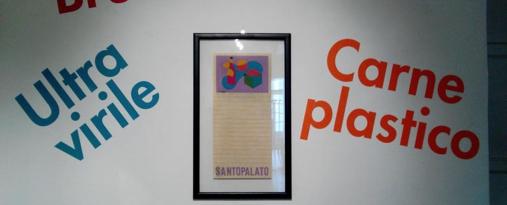 Enrico Prampolini, Menu Santopalato, 1931 - tempera su carta