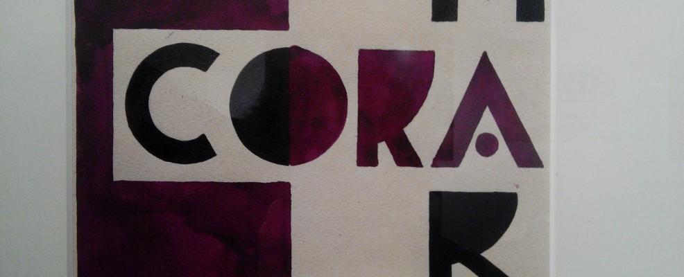 Ugo Carà, Amaro Cora, Bozzetto pubblicitario 1927 - tempera su carta