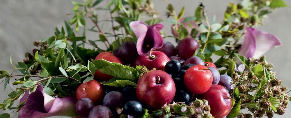 Alzatina di uva e prugne - Sale&Pepe