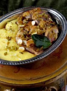 L'anatra in salsa di cedro e pistacchi