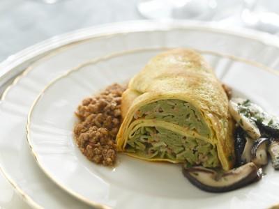 anello-di-crepes-con-tagliolini ricetta