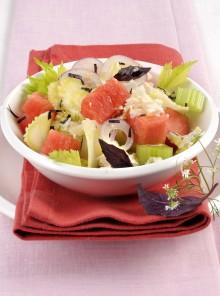 L'anguria in insalata con cipolla dolce e ricotta