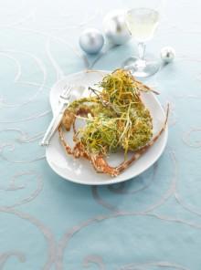 L'aragosta gratinata con verdurine alla vaniglia