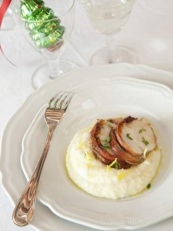 arrosto-di-pescatrice-al-limone-con-pure-di-patate-e-sedano-rapa ricetta