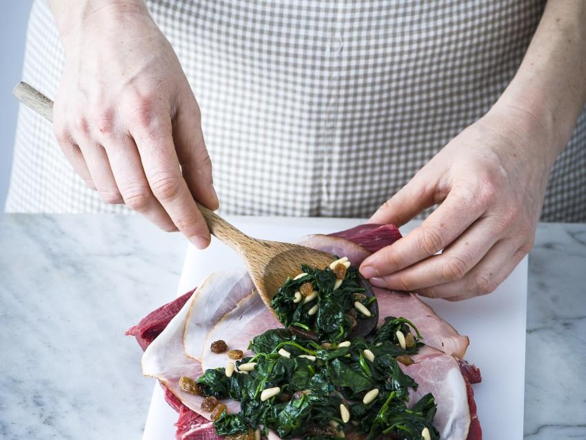 arrosto farcito con prosciutto e spinaci Sale&Pepe