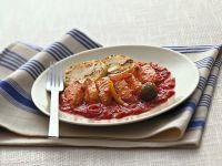 baccalà al pomodoro con crostini di polenta Sale&Pepe