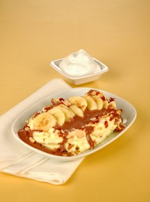 La banana split al croccante