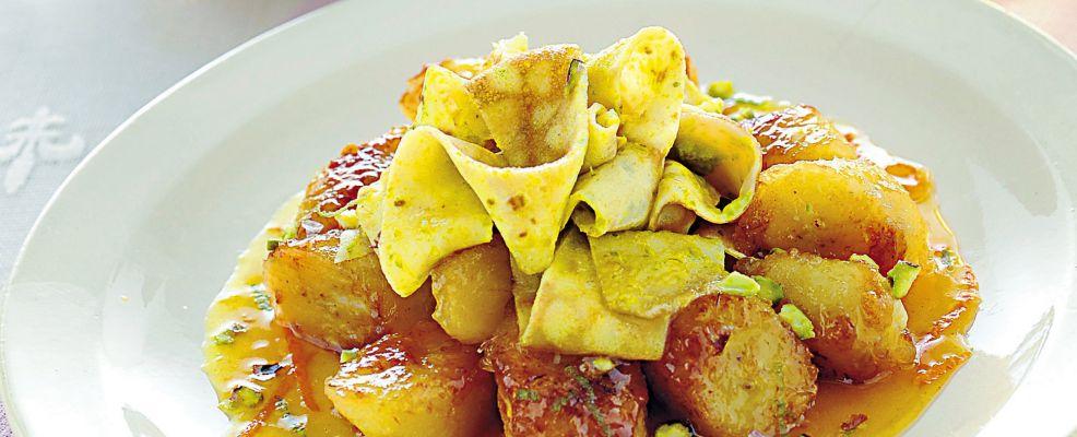banane-al-rum-con-nastri-di-crepes ricetta