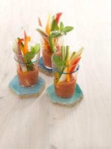 Bastoncini nel gazpacho