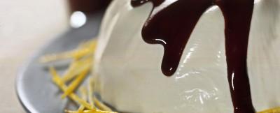 bavarese-al-limone-con-salsa-al-cioccolato-e-cannella ricetta