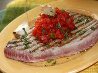 bistecche di tonno all'aglio Sale&Pepe foto