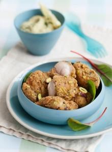 I bocconcini di coniglio in crosta di pistacchi
