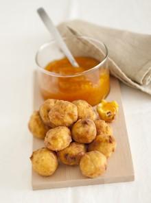 I bocconcini di polenta alla marmellata di albicocche