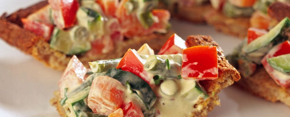 bocconcini di torta salata alla macedonia di verdura Sale&Pepe