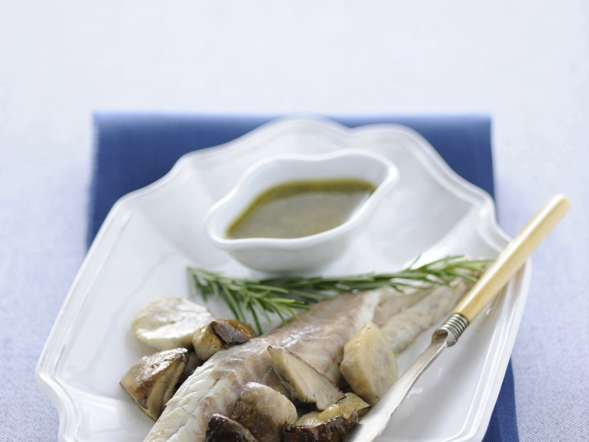 branzini-al-forno-con-porcini-e-pesto-di-noci ricetta