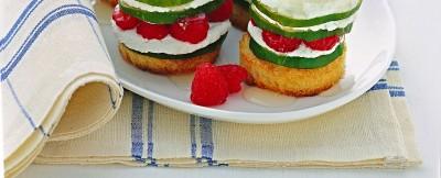 bruschette-dolci-con-panna-e-lamponi ricetta