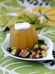 I budini di gelatina con frutta al Moscato