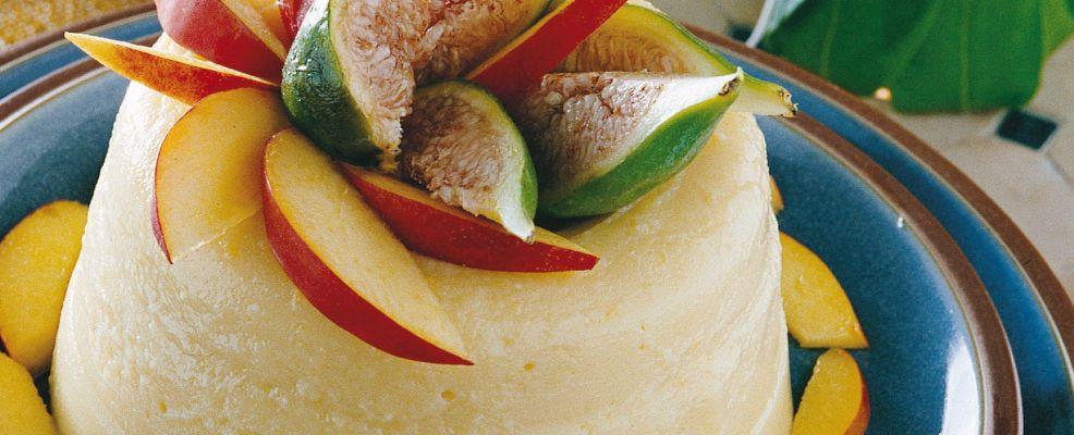 budino di pesche noci con salsa di fichi Sale&Pepe ricetta