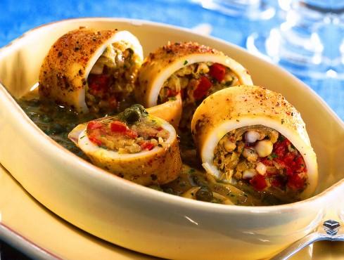 calamari farciti con capperi e acciughe Sale&Pepe ricetta