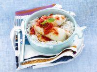 calamari ripieni agli aromi con riso bianco Sale&Pepe ricetta