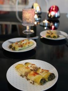 I cannelloni al ragù bianco e tartufo nero