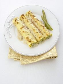 Cannelloni con asparagi e sesamo