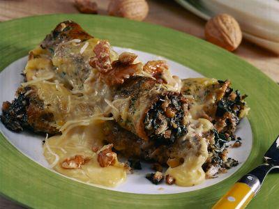 cannelloni di coste e noci ricetta