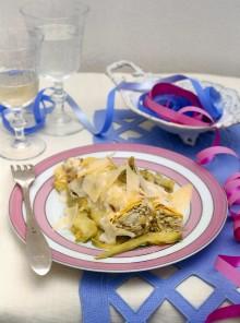 Cannelloni di magro con ricotta e carciofi