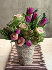 Carciofi e tulipani