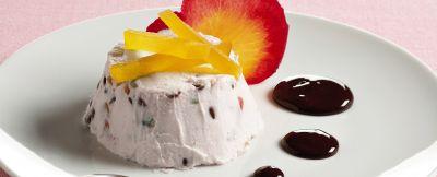 cassatine-alla-rosa-con-salsa-al-cioccolato immagine