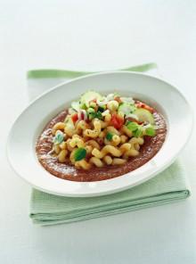 Cellentani in salsa gazpacho