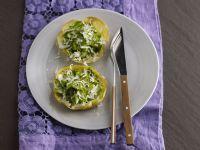 cestini di uova con asparagi verdi Sale&Pepe