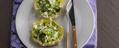 cestini di uova con asparagi verdi ricetta