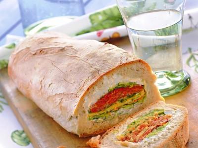 chiocciola-con-frittatine-pecorino-e-verdure