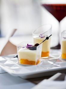 Composta di arance, crema di mascarpone e tartufini di cioccolato amaro