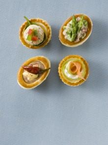 I vol-au-vent patè di olive e peperoncino