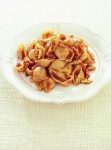 Le conchiglie con pancetta noci e rosmarino
