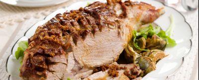 cosciotto di agnello al forno-con i carciofi ricetta