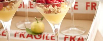 crema-di-limone-con-crumble-e-lamponi ricetta