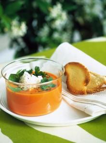 La crema di pomodori al caprino
